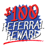 100 referral reward