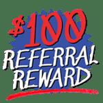 100 referral reward