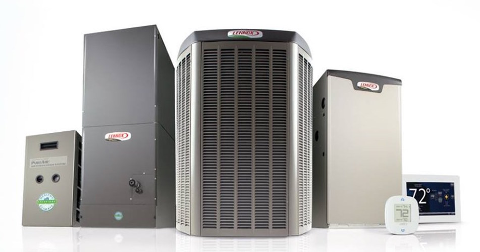 Different sizes of air conditioners