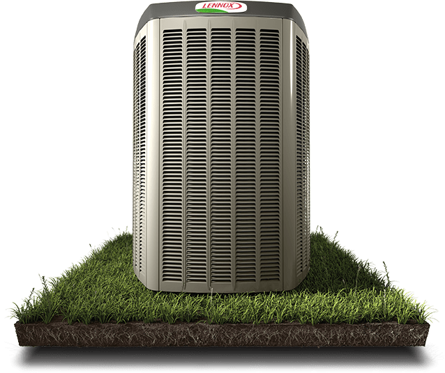 Lennox AC unit on grass