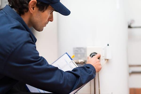 Man fixing appliance