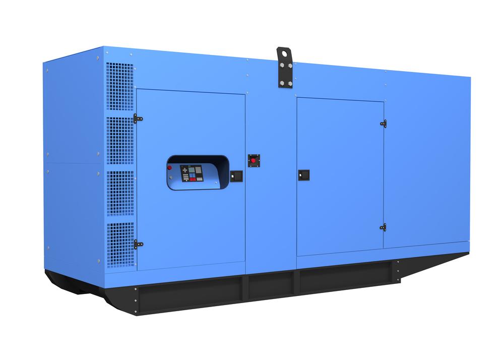 Blue diesel generator