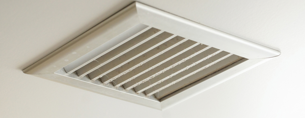 Exhaust vent on ceiling