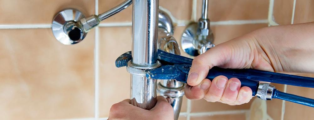 Repairing leak under sink
